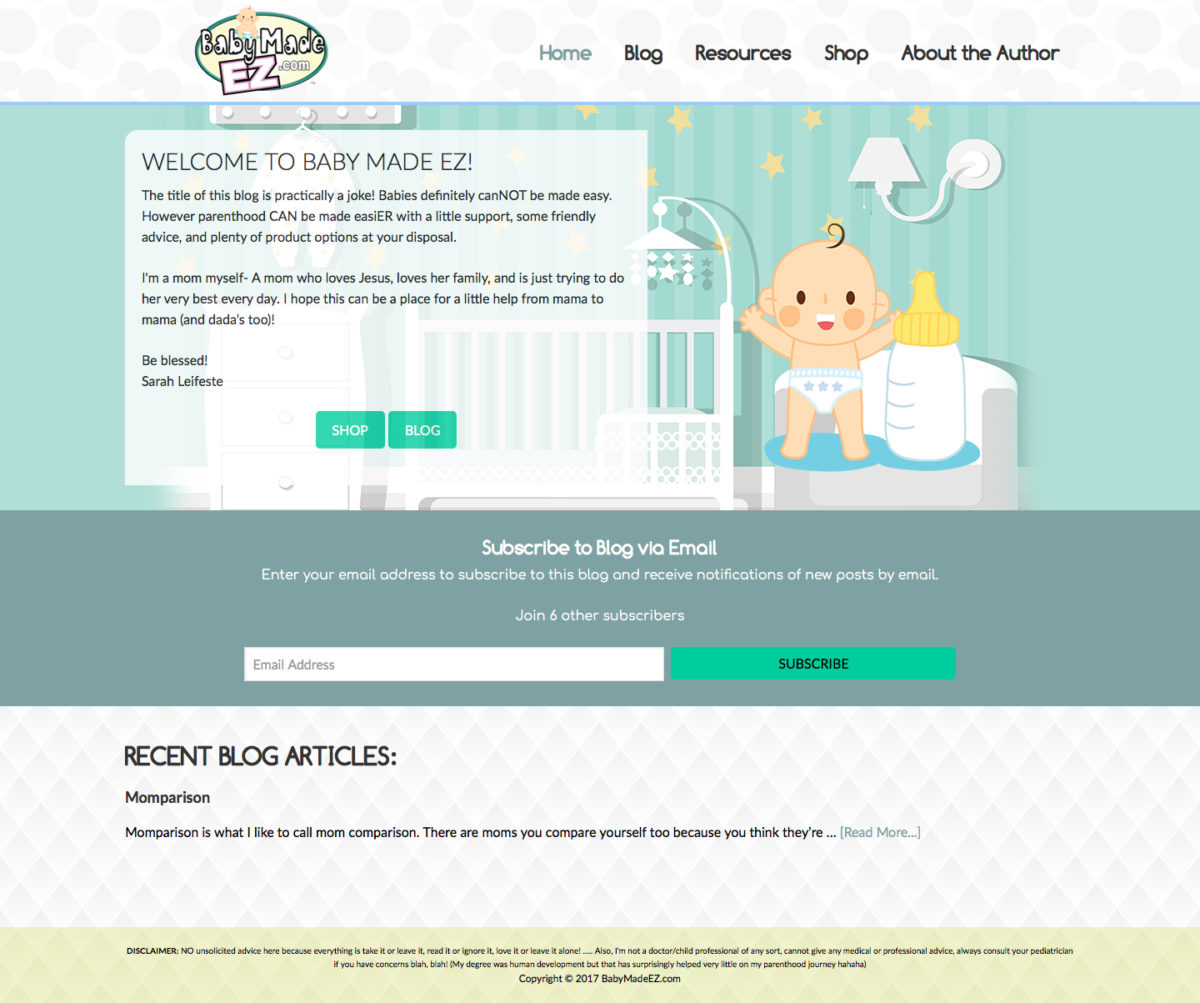 Baby Made EZ Web Design