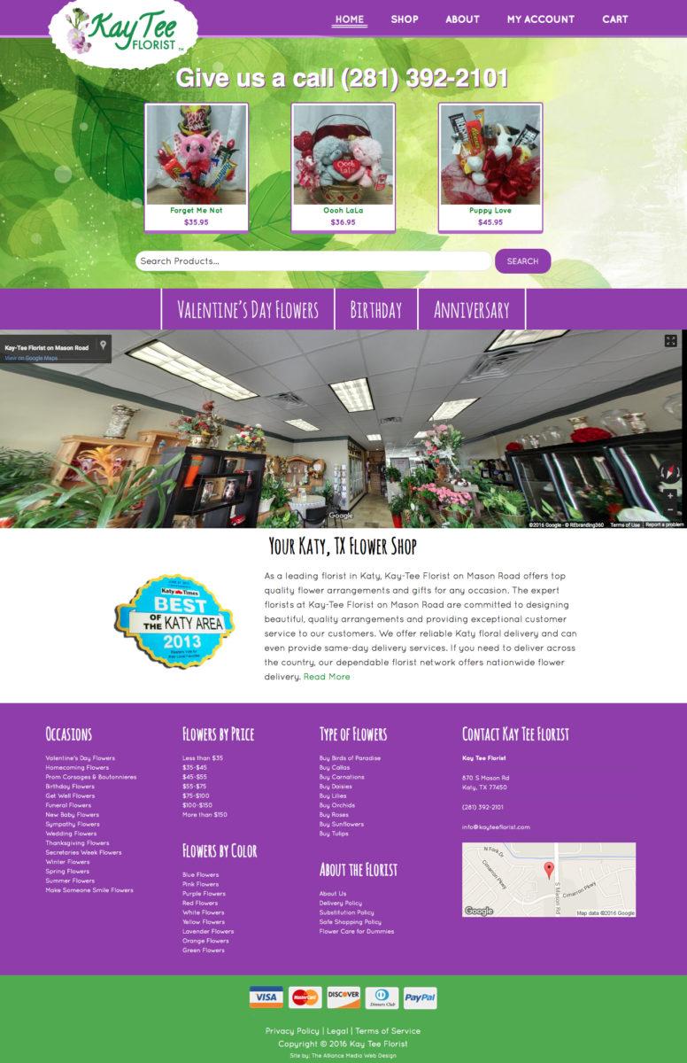 Kay Tee Florist Web Design