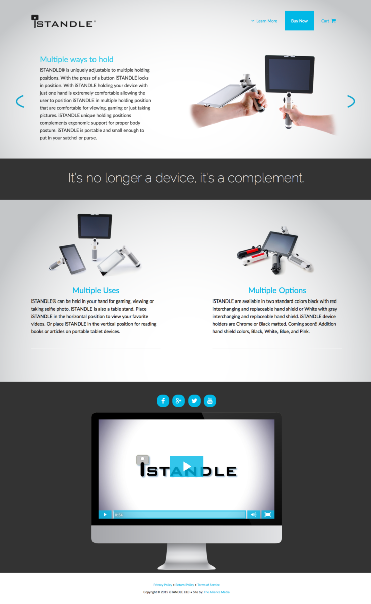 iSTANDLE Web Design